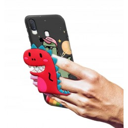 Etui Modne Wzory Szare do Samsung Galaxy A20s