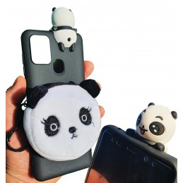 Etui PORTFEL i lalka Panda do Samsung Galaxy A21s