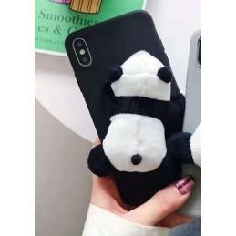 Etui guma PANDA futrzana do Samsung Galaxy A21s