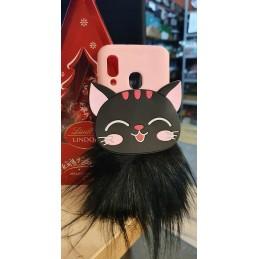 Etui futrzany kotek 3D do Samsung Galaxy A21s