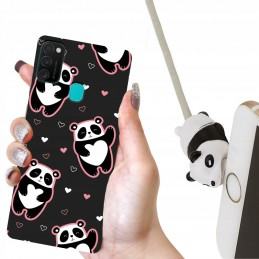 Etui PORTFEL i lalka Panda do Samsung Galaxy M21