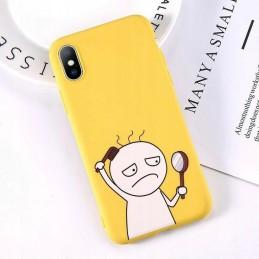 Etui żółte wzory + GRATIS Samsung Galaxy M21