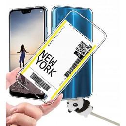 etui przezroczyste BILET wzory Samsung Galaxy M21