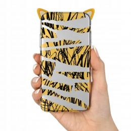 Etui żółte z paskiem wzory Samsung Galaxy A51