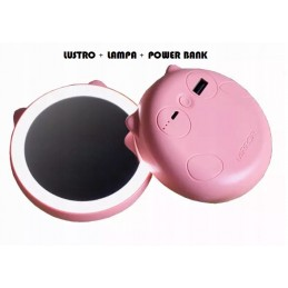 Power Bank + LUSTRO LAMPA kotek NOWOŚĆ MIRROR