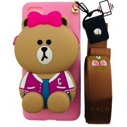 Etui MISIO PINK brelok 3d do Samsung Galaxy S7