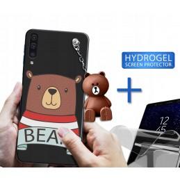Etui +uchwyt wzory Dinozaury do Huawei P Smart Pro