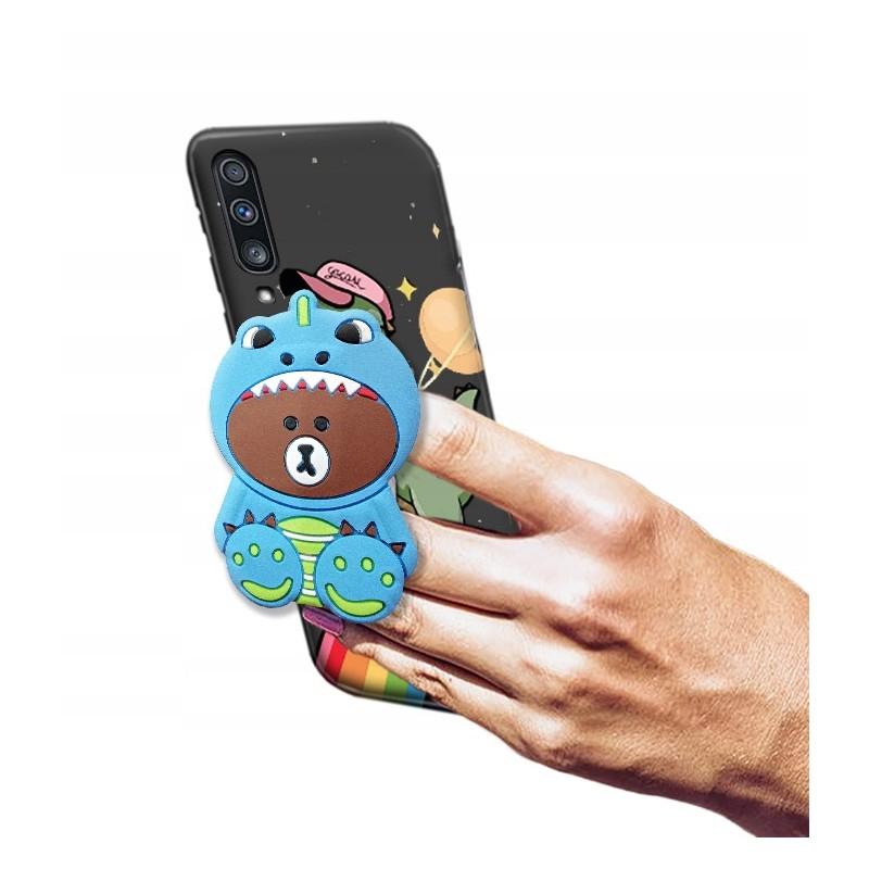 Etui + uchwyt 3d Dino wzory do Huawei P Smart Pro