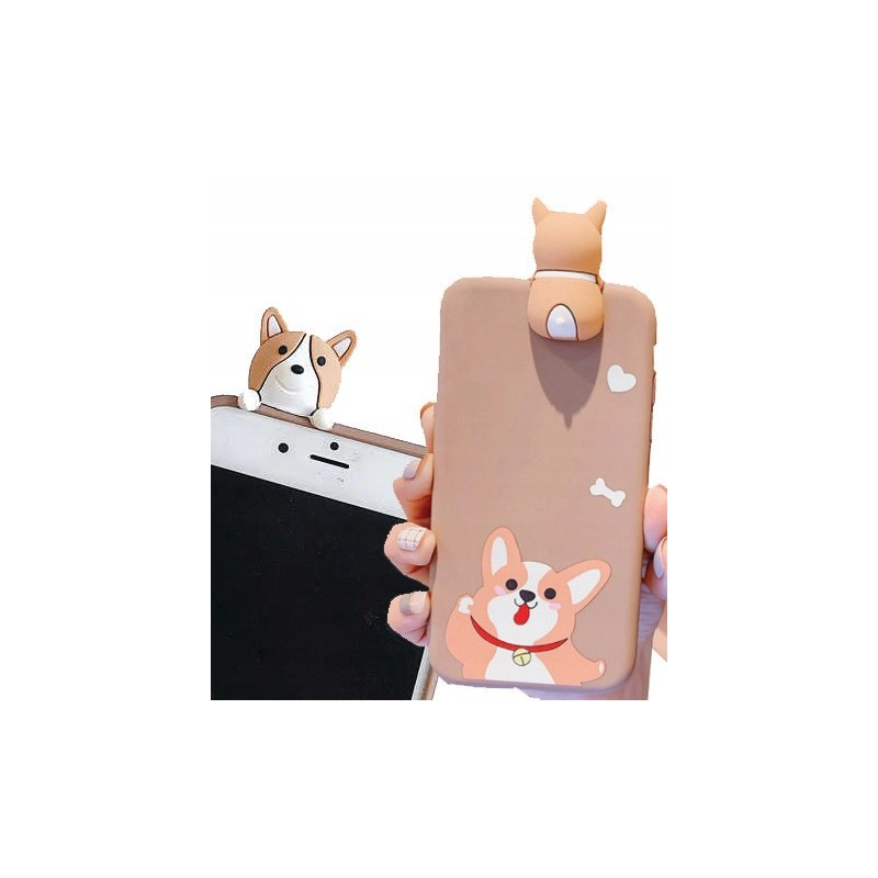 Etui lalki wzory PIESEK 3D Samsung Galaxy A21s
