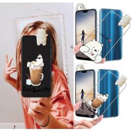 Etui case 3d lalka BIAŁY MIŚ Samsung Galaxy A21s