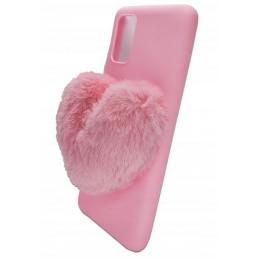 Etui case PINK SERCE FUTRO do Samsung Galaxy A21s