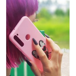 Etui różowe PIESEK 3D do Samsung galaxy A21s