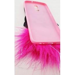 Etui ZAJĄC FUTERKO Pink do Samsung Galaxy A21s