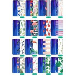 Etui przezroczyste kwiaty wzory Samsung Galaxy M21