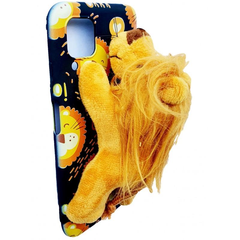 Etui z lwem LEW PLUSZAK Samsung Galaxy M21