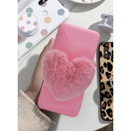 Etui case PINK SERCE FUTRO do Samsung Galaxy M21