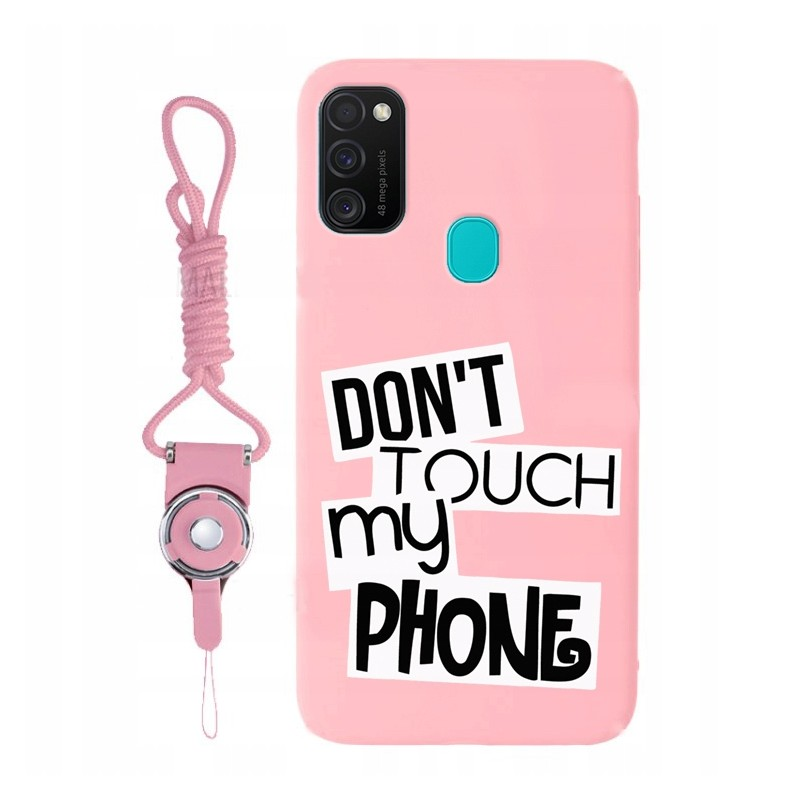 Etui różowe pink wzory Samsung Galaxy M21