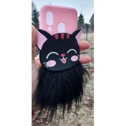 Etui futrzany kotek 3D do Samsung Galaxy M21