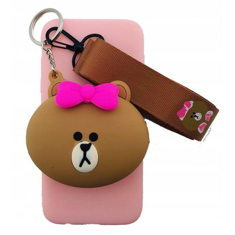 Etui portfel Miś smycz do Samsung Galaxy M21