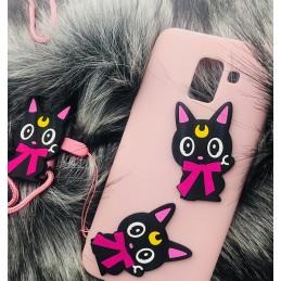 Etui KOT smyczka do Samsung Galaxy S9 Plus Case nakładka plecki na telefon 3d wzory