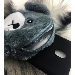 Etui Miś Portfelik do Samsung Galaxy S9 Plus Case nakładka plecki na telefon 3d wzory