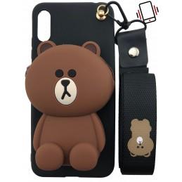Etui MYSZ z paskiem do Huawei Y5 2019 guma case tanio pokrowiec telefon