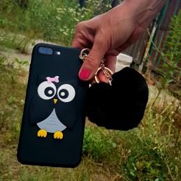 Etui Sowa Sówka BRELOK do Apple iPhone 7 Plus guma case tanio pokrowiec telefon