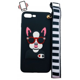 Etui PIES DOG SMYCZKA do Apple iPhone 7 Plus guma case tanio pokrowiec telefon