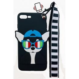 Etui Pies Piesek SMYCZKA do Apple iPhone 8 Plus guma case tanio pokrowiec telefon