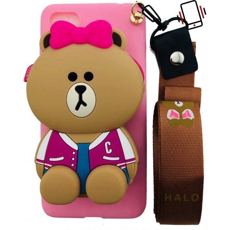 Etui Miś Portfel smyczka do Samsung Galaxy A70 case na telefon smartfon warszawa