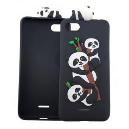 Etui PANDA smycz brelok do Samsung Galaxy J4 Plus guma case tanio pokrowiec telefon