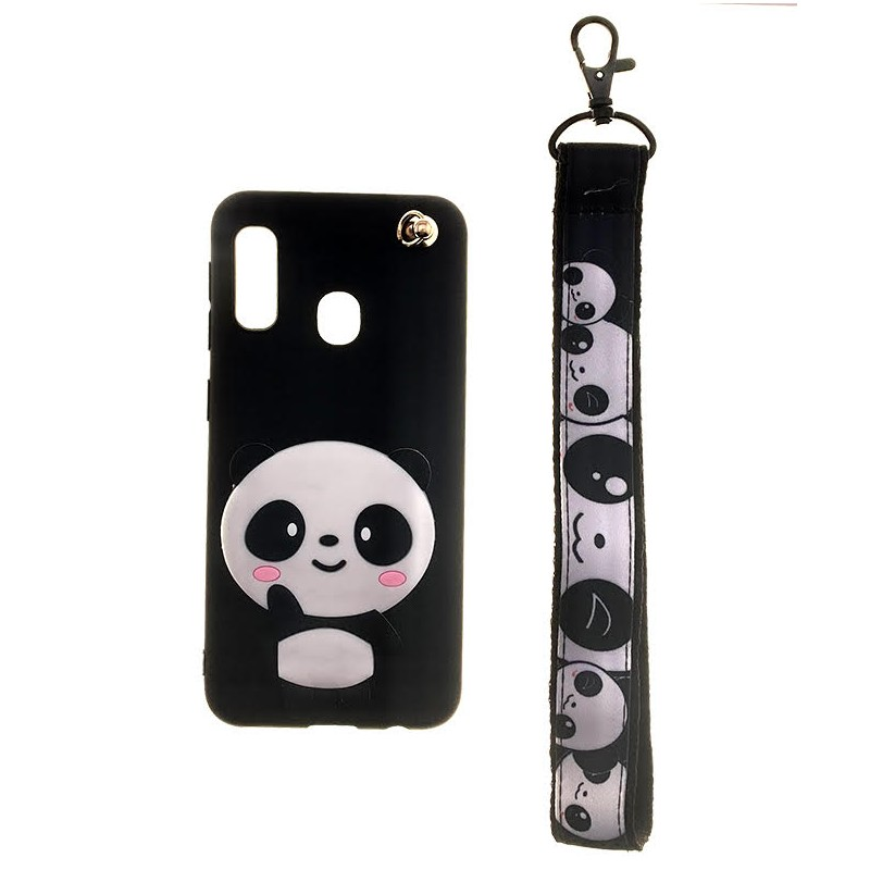 Etui guma PANDA smyczka do Huawei P Smart 2019