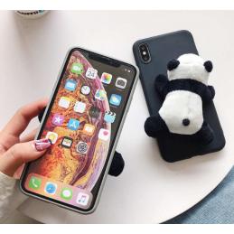 Etui guma PANDA futrzana do Huawei P Smart 2019