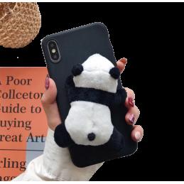 Etui Miś Portfel smycz do Samsung Galaxy A6 2018 guma case tanio pokrowiec telefon